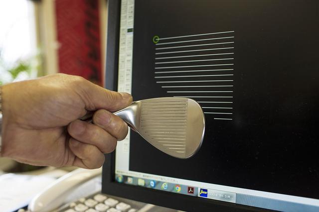 画像: CADにて現状のスコアラインを3D化する