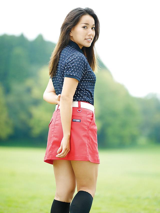 画像: 「得意なクラブはユーティリティ。好きなゴルファーは鎌田ハニーさんです」