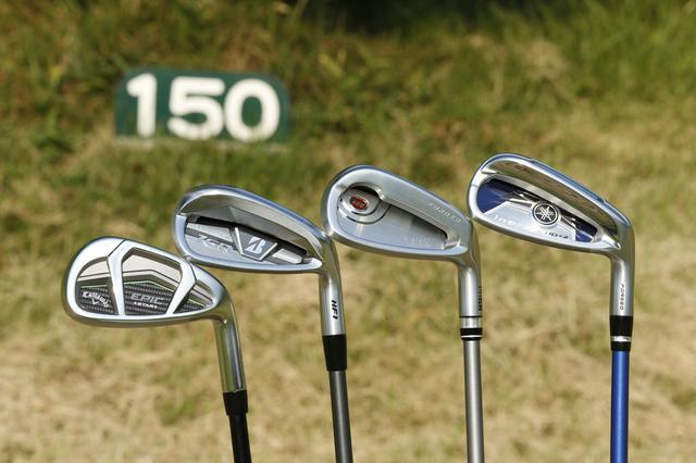 """画像: 「8番で150Y」はもはや""""余裕""""です。激飛びアイアン4モデル、コースで打ち比べてみた! - みんなのゴルフダイジェスト"""