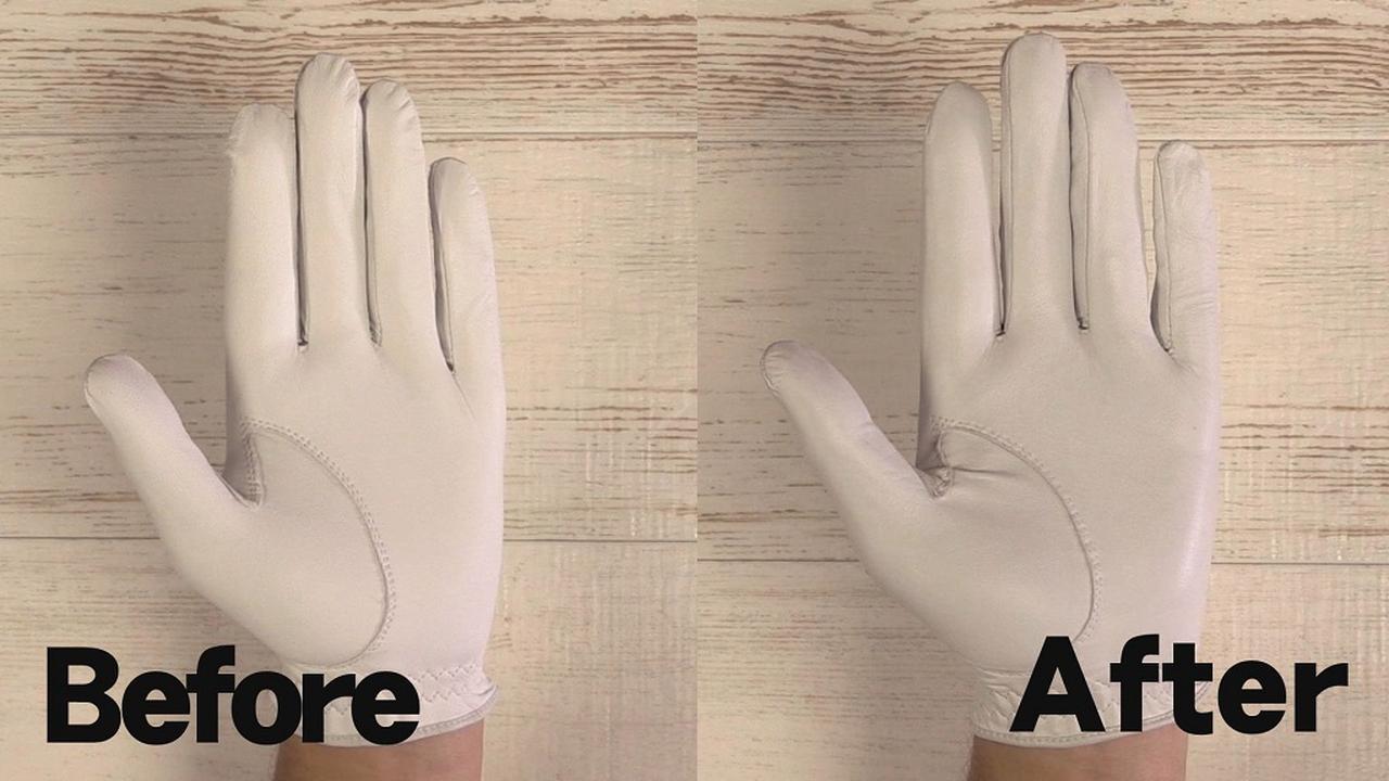 画像: 指先に注目! アフターではシワがなくジャストサイズに変わっているのがわかるはずだ