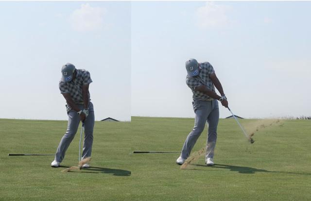 画像: 球を自在に操るように、風に強い低い弾道を打つ宮里優作(写真1)