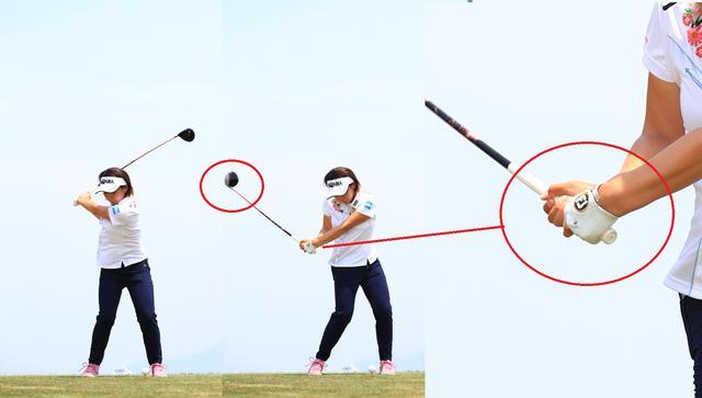 画像: フェースがボールを向いたダウンスウィング