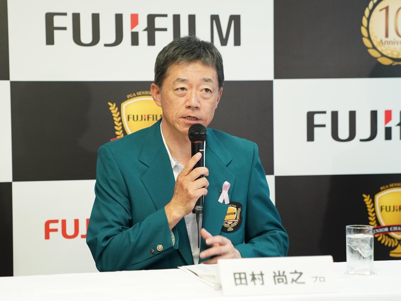 画像: 練習ラウンドを終え、記者会見に臨んだ田村尚之