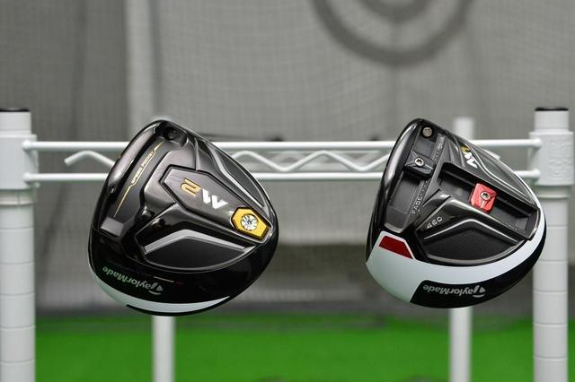 画像: 2つのウエイトが設置されている「M1」(右)。ウエイトの位置でドローやフェードなどの球が打ちやすくなる。対して「M2」(左)には「M1」のようなウエイト調整機能が搭載されていない