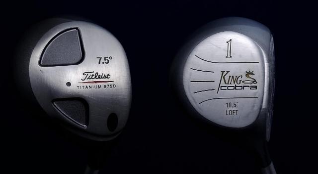 画像: 【左】タイトリスト「975D」(1997年発売)、【右】キングコブラ「ツアーメタル」(1993年発売)