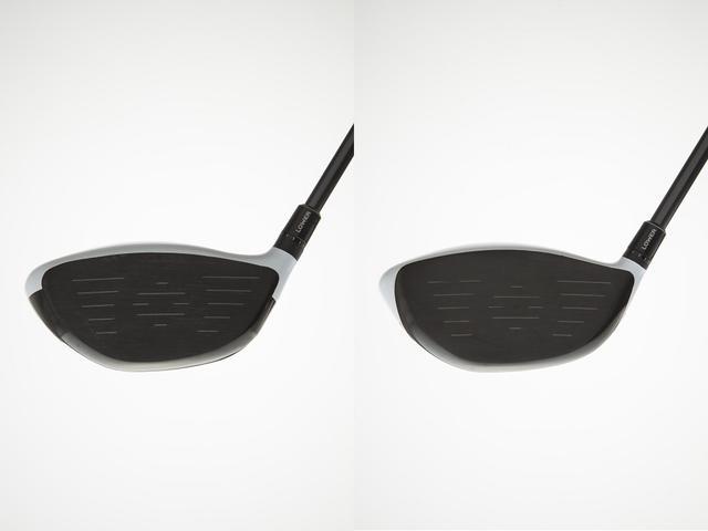 画像: 右が「M1」で左が「M2」。「M2」の方がフェース面が広く感じる。「M2」のほうがミスヒットに強そうだ