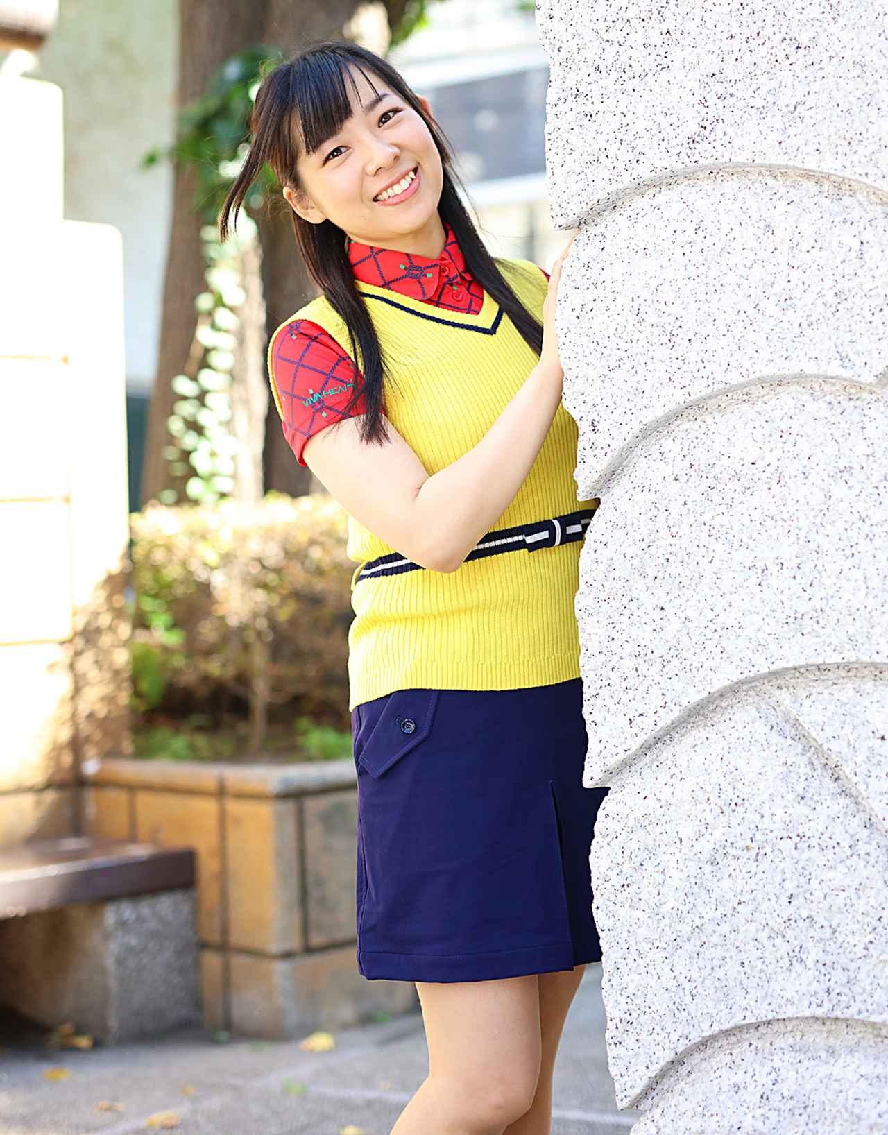 画像: 「好きなゴルファーは、尾崎将司プロです。得意なクラブはパターかな」。