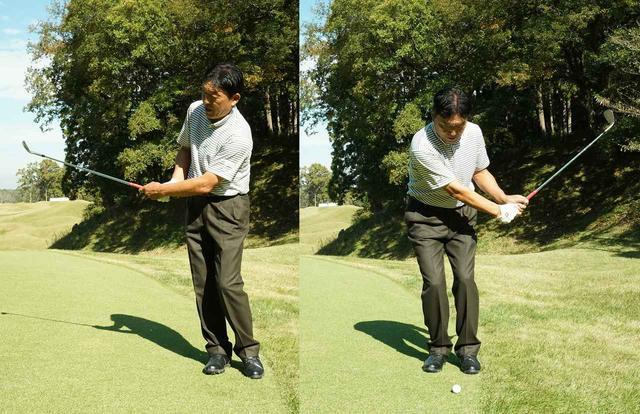画像: そのまま左右対象の幅で打てば、多少ミスしても寄る
