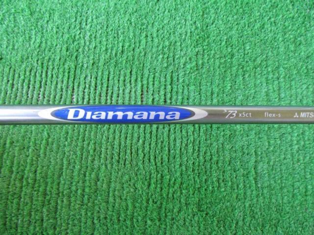 画像: シャフトは「ディアマナ S73」(S)。クセがないが重量感がある