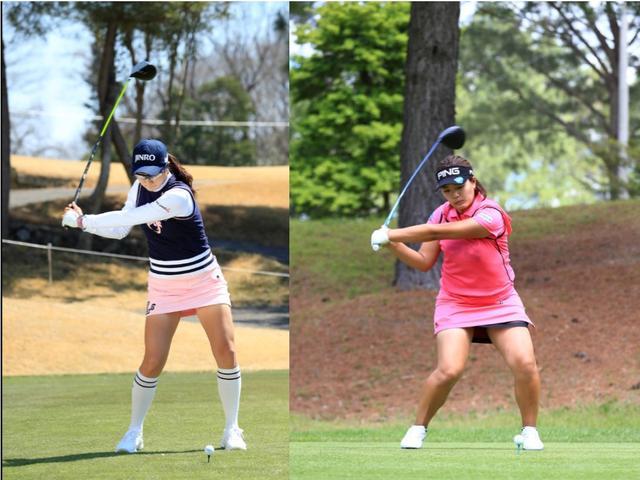 画像: キム・ハヌル(写真左)と鈴木愛(写真右)ともに、下半身から始動するから、下半身から切り返せる