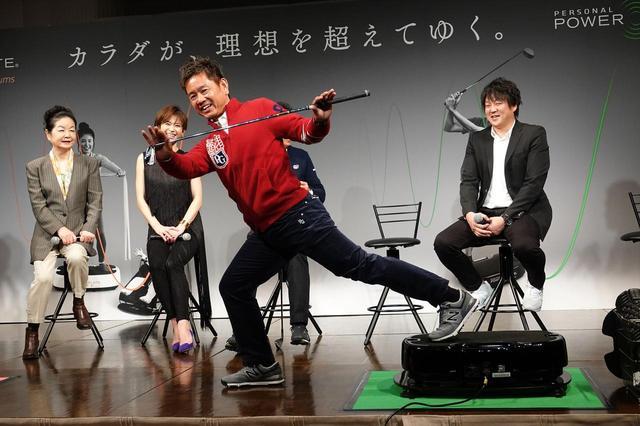 画像: 「パーソナルパワープレート」を使ってオフにはトレーニングをするという藤田寛之