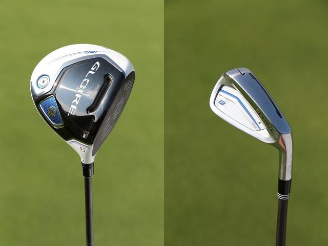 画像: 左「グローレF2 ドライバー」●ロフト 9.5度 ●シャフト 純正GL6600(S)、右「グローレF2 アイアン」●ロフト 31度(7番)●シャフト N.S.PRO 930GH(S)