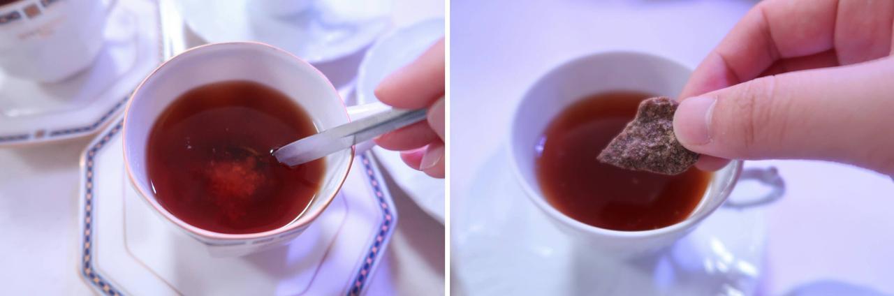 画像: 生姜をティスプーン1杯と黒糖を少々