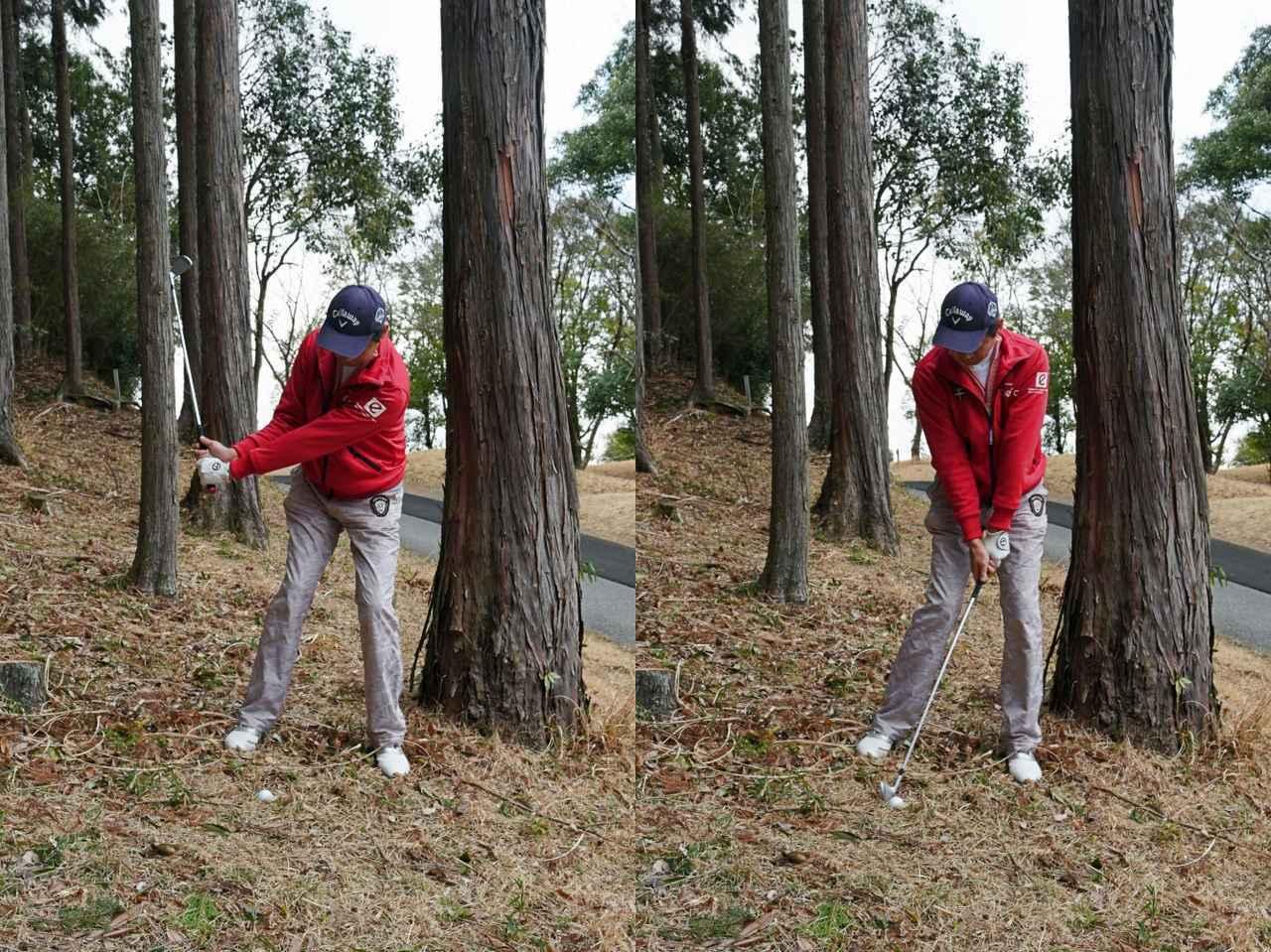 画像: カナヅチで打つイメージを持つとしっかりボールにコンタクトできる