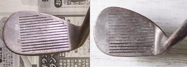 画像: サビ取り前(写真左)とピカール使用後(写真右)。周りのサビは落ちたが、溝に入った細かいサビまでは落ちなかったようだ