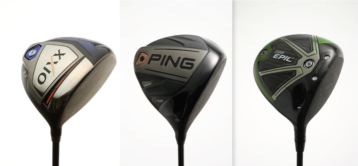 画像: 左からダンロップ「ゼクシオテン」、ピン「G400」、キャロウェイ「エピックサブゼロ」