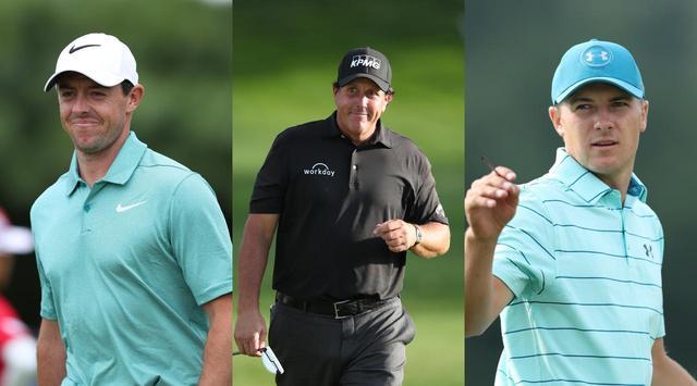 画像: 左からマキロイ、ミケルソン、スピース。次、グランドスラマーとなるのは?