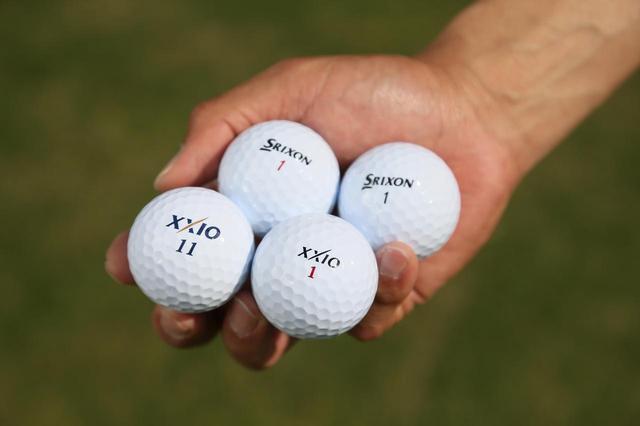 画像: ディスタンス系(ゼクシオAERO DRIVE)、スピンコントロール系(スリクソン Zスター、ZスターXV)、そして第三のボール(ゼクシオUX-AERO)の4つを3つの状況で打ち比べた