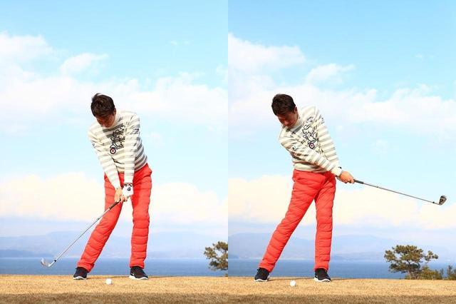 画像: ダウンでボールを打つ感覚があるパンチャー(左)か、フォローで飛ばす感覚があるスウィンガー(右)、あなたはどっち?