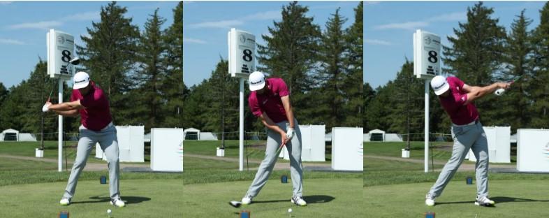 画像: 画像2:コンパクトなトップから左足の踏み込みを積極的に使いフォローを大きく振りぬく