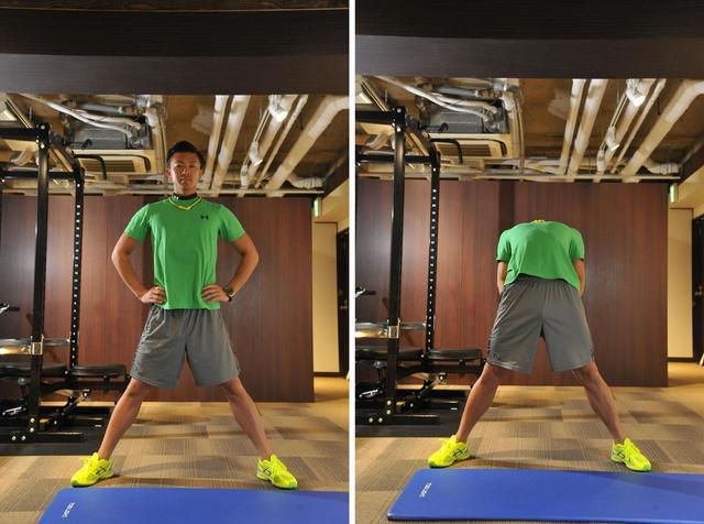 画像: 体の前面が伸びているのを意識しよう
