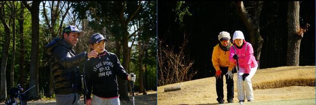 画像: いつも参加している友人に誘われて参加したという大島優健、めぐみペア(写真左)と他のダブルス競技にも参加しているという横溝友里恵、小形幹世ペア(写真右)