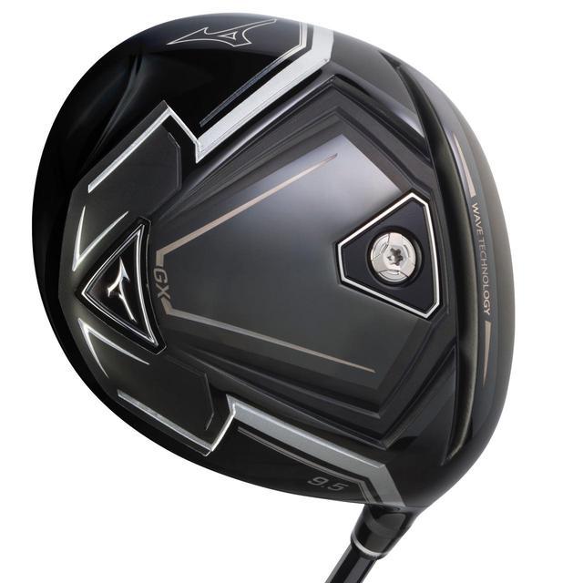 画像: 黒一色のヘッドで締まった印象を受ける、ミズノGXドライバー