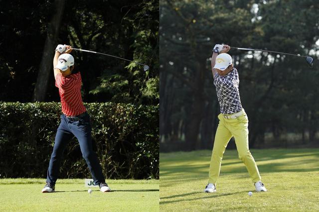 画像: 画像2:写真左(2017年10月)と比べて写真右はトップのクラブの位置がコンパクトになり体重移動も少なくなっている