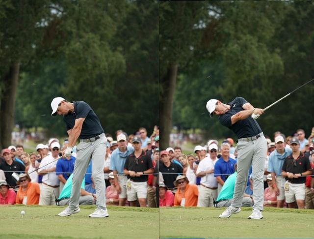 """画像: 左脚を伸ばしつつ前傾角度が保てるのは、左のお尻方向に""""蹴って""""いるから"""