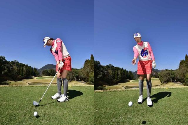 画像: 「ボールをトスするように打てば、ランニングアプローチになります」(飯島)