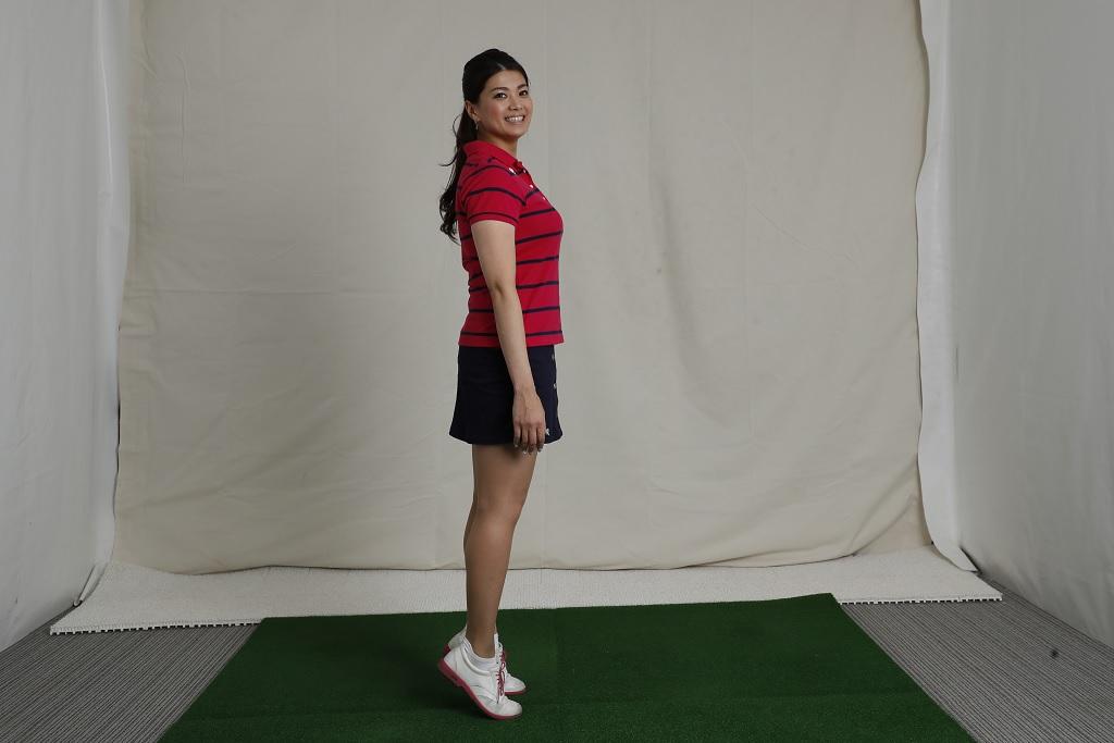 画像: 足の指で立つくらい背伸びをすることで母指球の使い方=飛ばしのための筋肉を使うトレーニングになる
