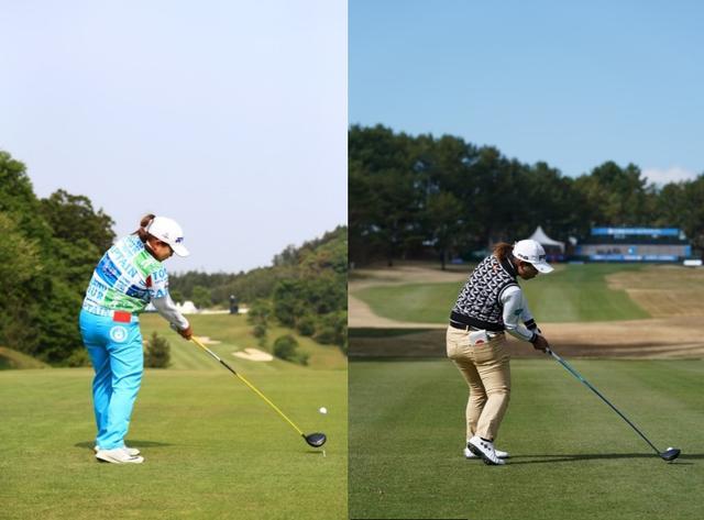 画像: 画像5:インパクトの形も瓜二つのアン(写真左)と鈴木(写真右)