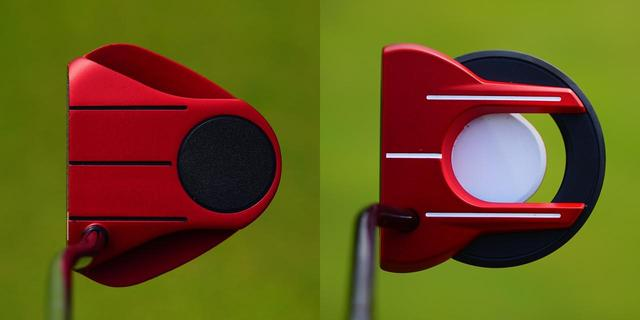 画像: 左がオデッセイの「O-WORKS TOUR」、右がテーラーメイドの「スパイダー アークパター」。今年も赤パターがアツい!?