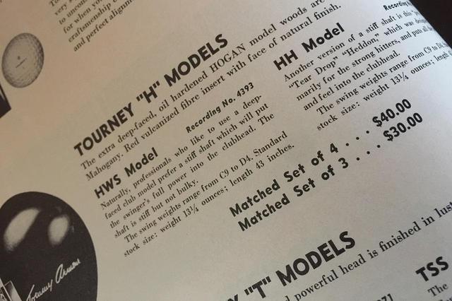 画像: 50〜60年代になると、有名プロのパーソナルモデルが続々と登場。ドライバーからアイアン、ウェッジ、パターまで、フルセットで使えるラインナップであることが基本だった