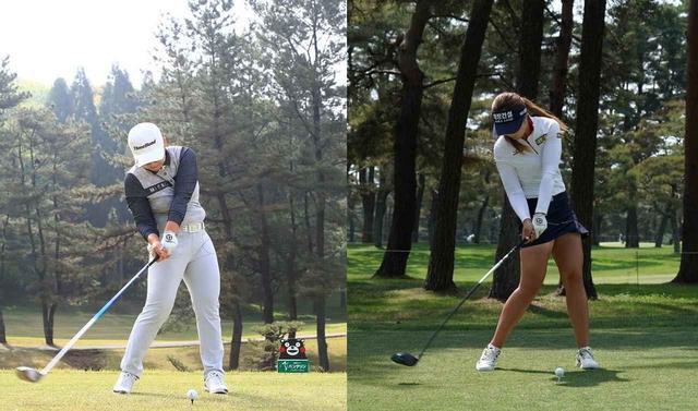 画像: 右足のかかとの浮く量は少なく、それに対して腰はしっかりとターゲット方向へ回転している