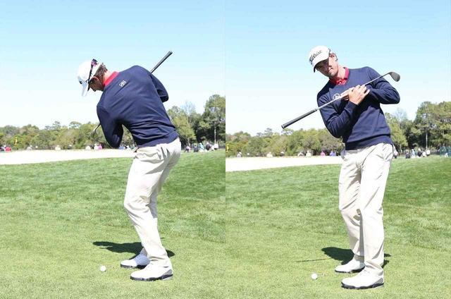 画像: インパクトのときに球を上げようという意識が働いてしまうので、肩を回す動作に意識を集中しよう