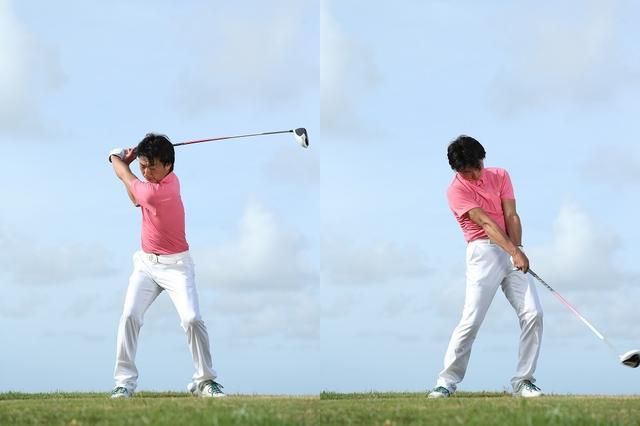 画像: 切り返してからインパクトまで。インパクトした後は何をしてもボールの方向や距離には影響しない