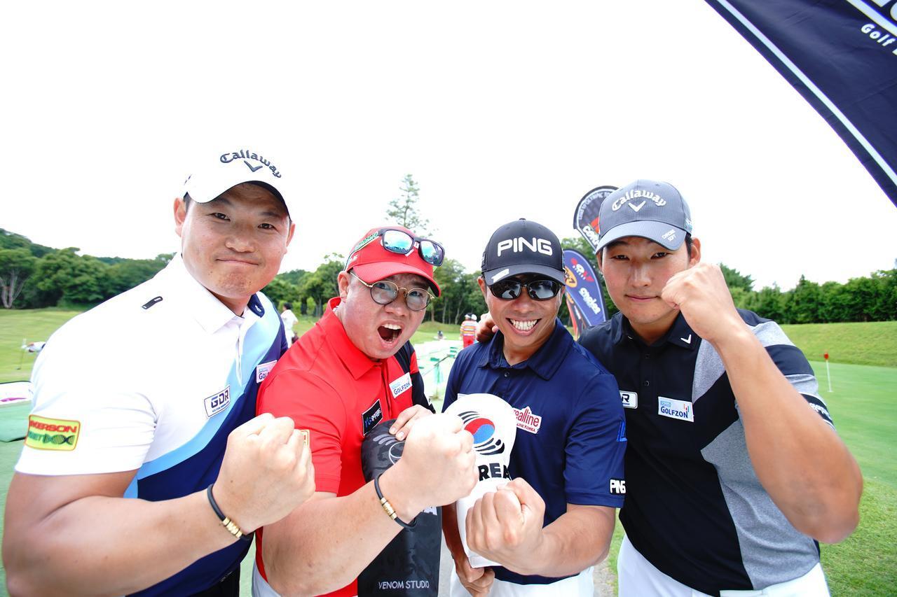 画像: 韓国の飛ばしチャンピオンたちが殴り込みをかけてきた! 写真左から、キム・ホンシク、キム・ユグン、キム・ヒョング、オム・ソンヨン