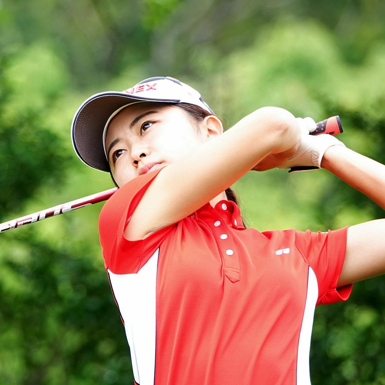 画像: トヨタジュニアゴルフワールドカップで個人優勝を果たした安田祐香(滝川第二高校3年)。日本女子アマ連覇に挑む今週は、初日を2オーバー21位タイで終えた