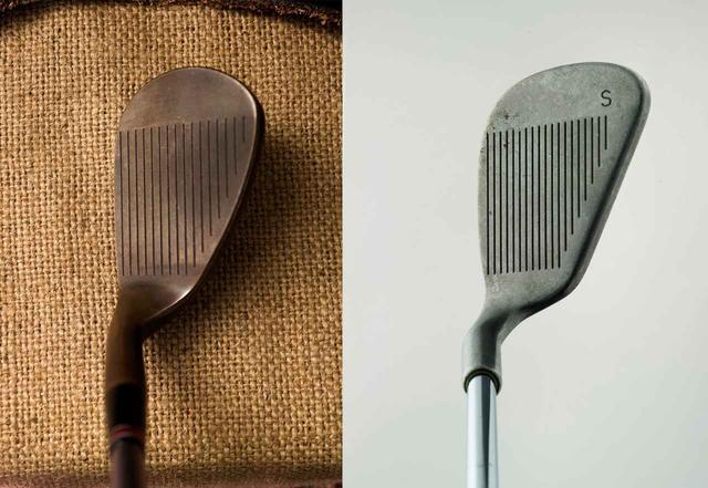 画像: 写真1。左/ジャンボ尾崎用にマスダゴルフの増田雄二氏が削った『M425』ウェッジ。右/PING EYE2のSW。