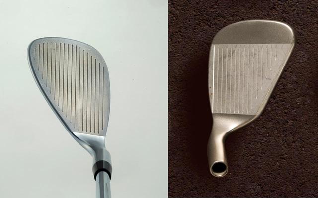 画像: 写真2。左/キャロウェイがミケルソン用に作った「MD PMグラインド」。右/PING EYE2のLW。ミケルソンは幼少時代からEYE2のLWでアプローチ技を磨いた。