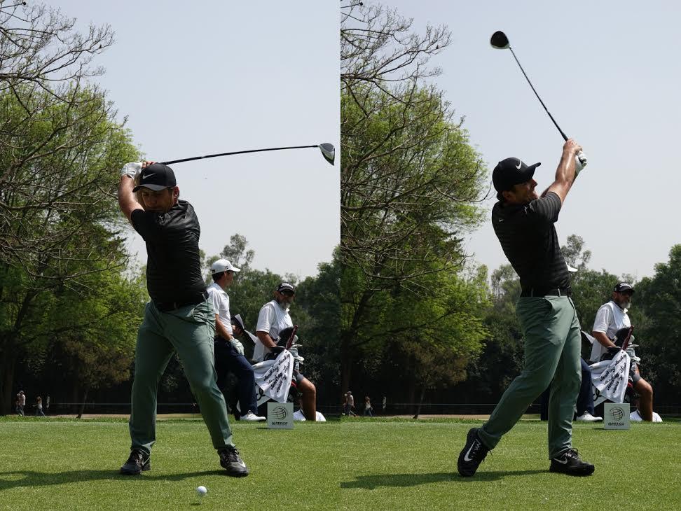 画像: イメージ的には左右対称。風に強い軸がぶれないスウィングがモリナリの最大の武器だ(写真/2018年のWGCメキシコ選手権 )