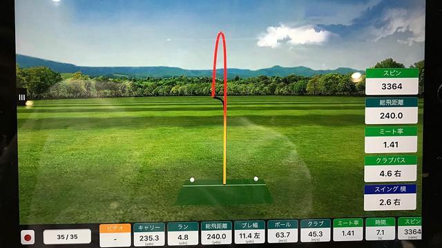 画像: プロゴルファー・中村修の試打結果。キレイなドローだが、本人の意識では「スライスめ」に打っている。