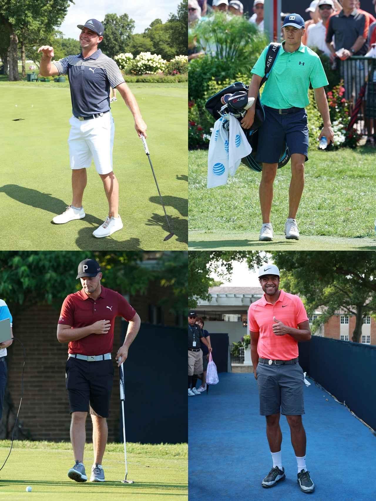 画像: 画像1/全米プロ練習日に短パンを着用していたゲーリー・ウッドランド(左上)、ジョーダン・スピース(右上)、ブライソン・デシャンボー(左下)、トニー・フィナウ(右下)