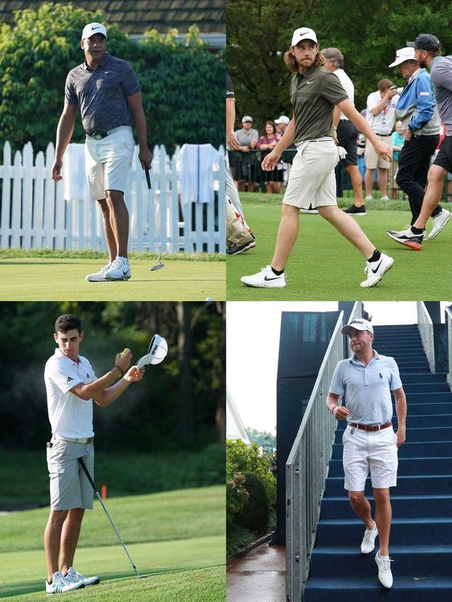 画像: 画像2/全米プロ練習日に短パンを着用していたジョナサン・ベガス(左上)、トミー・フリートウッド(右上)、ホアキン・ニーマン(左下)、ジャスティン・トーマス(右下)