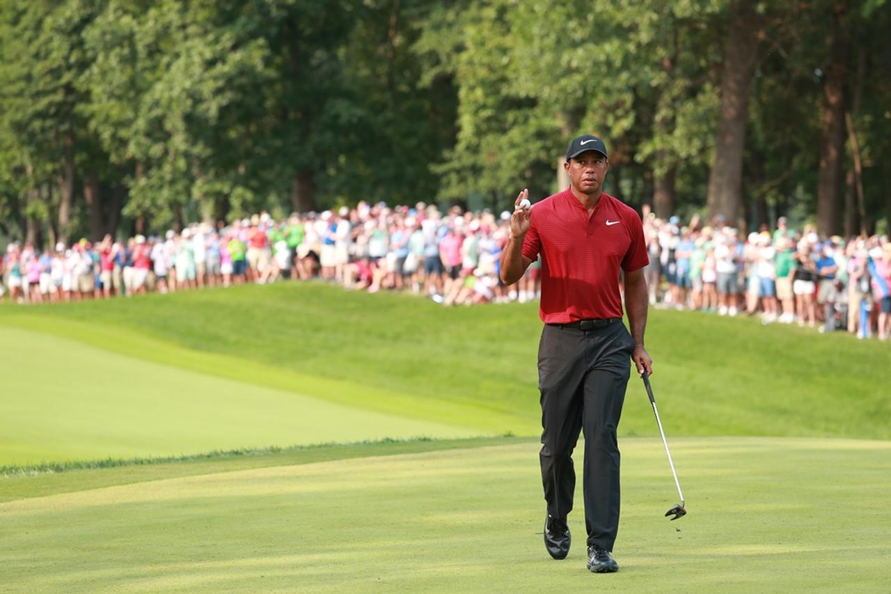 画像: 全米プロゴルフ選手権では単独2位入り、観客や選手までもを熱狂させたタイガー・ウッズ(写真は2018年の全米プロゴルフ選手権)
