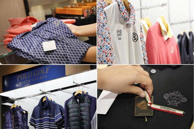 画像: 左上から時計回りに「ドレモア」「アンパスィ」「オロビアンコ」「ポロラルフローレン」。「オロビアンコ」は同店オープンを契機に他店舗でも取り扱いを開始する