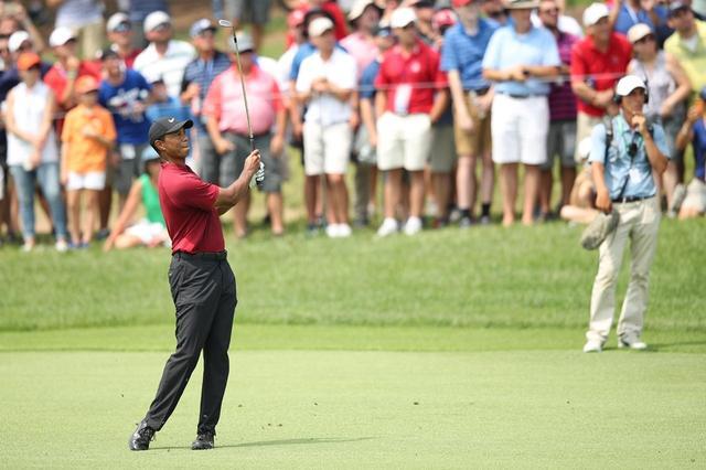 画像: 全米プロゴルフ選手権最終日には6アンダーを叩き出したタイガー・ウッズ(写真は2018年の全米プロゴルフ選手権)
