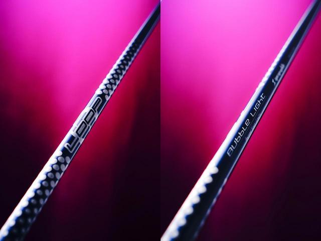 画像: LOOPの最速シャフト「バブルライト」。市販品とは微妙に異なるカスタム仕様を特注した