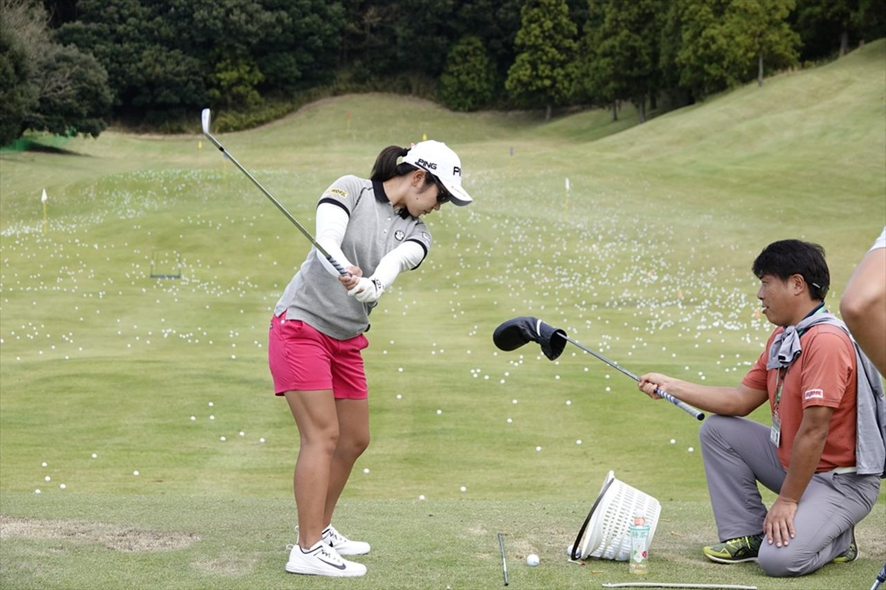 Images : 3番目の画像 - この精度、必見! 比嘉真美子の練習場スウィング連続写真 - みんなのゴルフダイジェスト